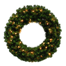 30in Kentucky Pine Green Wreath with 250 Tips & 70 WarmWhite LED Lights