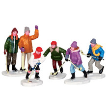 Lemax Village Collection The Home Team, Set of 5 #42240