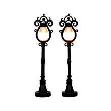 Lemax Village Collection Parisian Street Lamp, set of 2 #44757