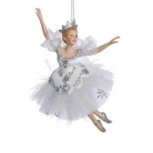 Kurt Adler 6.75in Snow Queen Ballerina Ornament #C8574