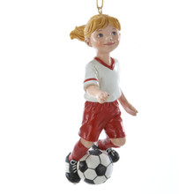 Kurt Adler 4in Soccer Girl Ornament #C8189G