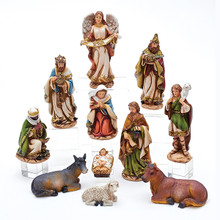 Kurt Adler 11-Piece 6in Resin Nativity Figures Set #N0288