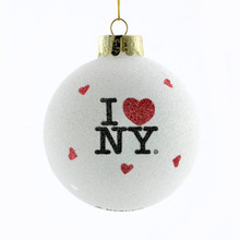 Kurt Adler 80mm Glass inI Love NYin  Ball #NY0708