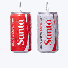 Kurt Adler Share a Coke/Diet Coke with Santa Cans, 2 Assorted #CC1161