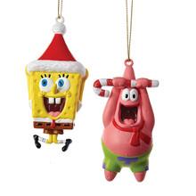 Kurt Adler Spongebob & Patrick Ornaments, 2 Assorted #SB1161