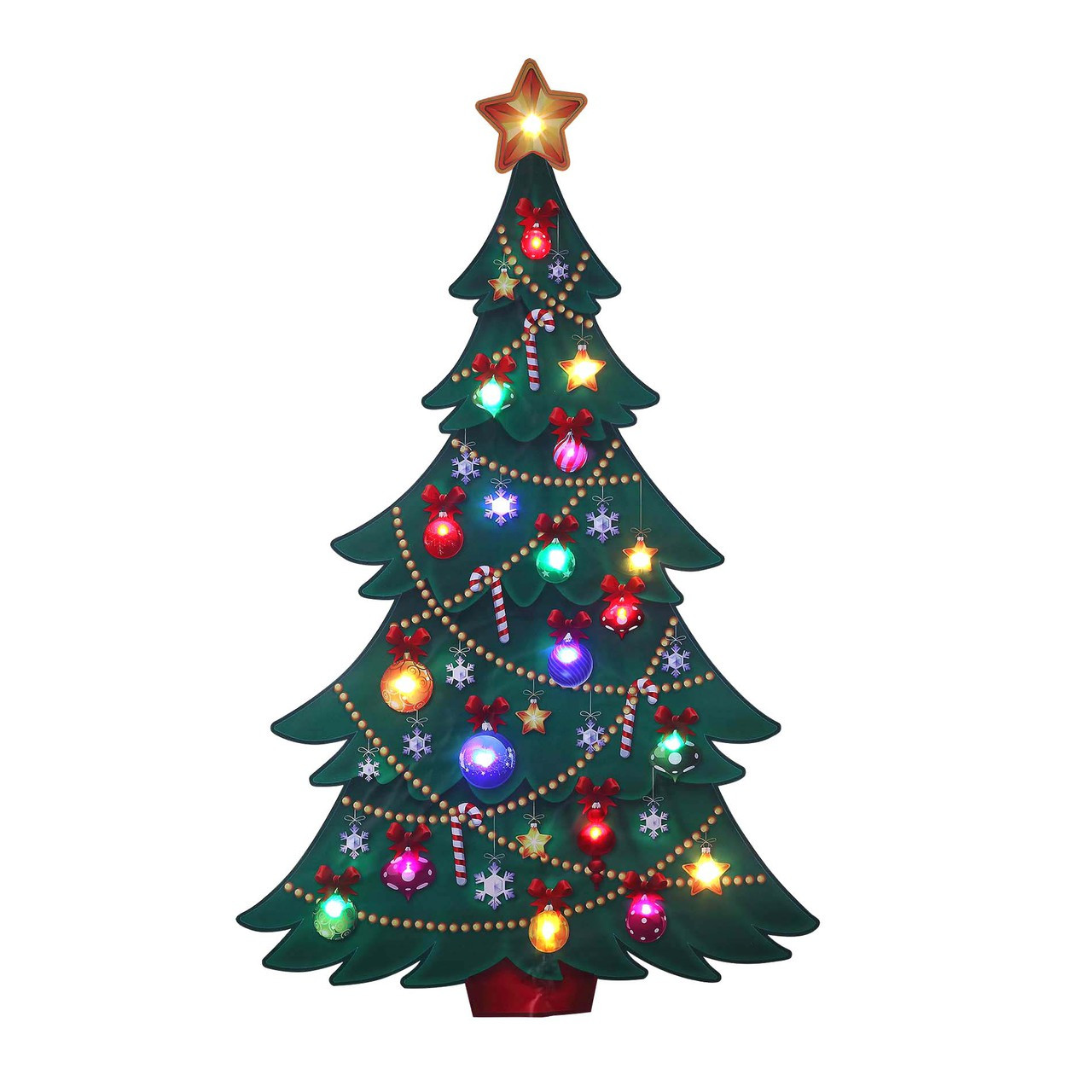 Outdoor Light Up Christmas Tree.Mr Christmas Christmas Tree Illuminart Outdoor Dzcor 10533