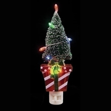 Present with Ltd Xmas Tree Night Light with Swivel Plug #164082
