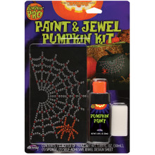 Spider Webs Paint & Jewel Pumpkin Kit  #94663PDQ