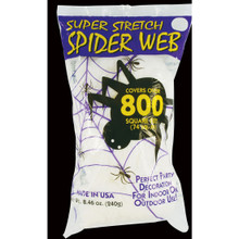 Super Stretch White Spider Web #9523