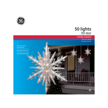 GE 3D Lighted Hanging Star Decoration #AS79526