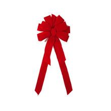 Deluxe Red Flock Velvet Bow #105P24A606