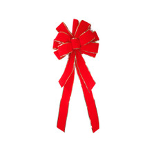 Deluxe Pressed Edge Red Velvet Bow #105P24A610