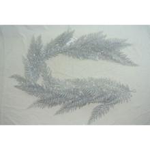 "60"" Silver Glitter Lace Fern Garland #MTX52312"