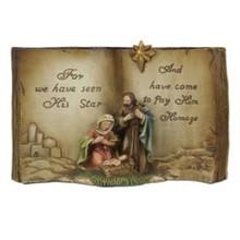 "8"" Resin Holy Family Book #MTX53175"