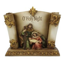 "8"" Resin Holy Family Scroll #MTX53176"