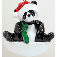Rudolph & Me Bamboo Panda Personalized Ornament #1207-1