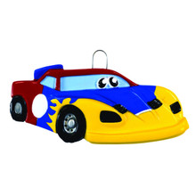 Rudolph & Me Race Car Personalized Ornament #1691