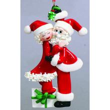 Rudolph & Me Mistletoe Santa & Mrs Claus Personalized Ornament #919