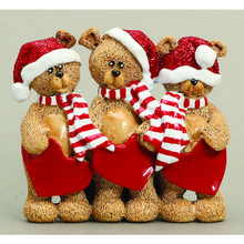 Rudolph & Me 3 Stocking Cap Bears Family Personalized Ornament #TT205-3