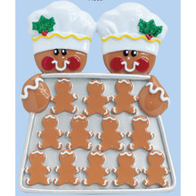Rudolph & Me Gingerbread Baker Couple Personalized Ornament #TT500-2