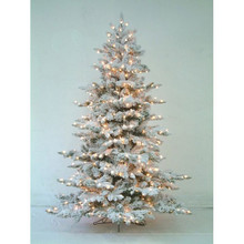 10' PreLit Flocked Minnesota Tree with 2,000 Clear UL Lights #MTX30497