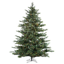 12' Always-Lit English Spruce Tree w 2800 Clear UL Lights #MTX39978A