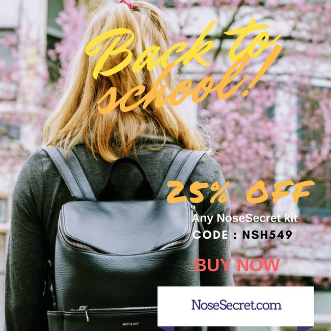 BACK TO SCHOOL -25% OFF any NoseSecret kit