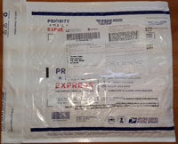 USPS Priority Mail Express International envelope