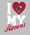 I Heart Ravens Decal