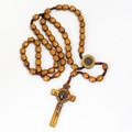 Rosary - Bronze Medal Brown