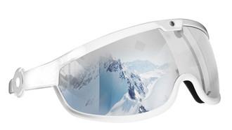 White Frame w/ Rose Mirrored Lens