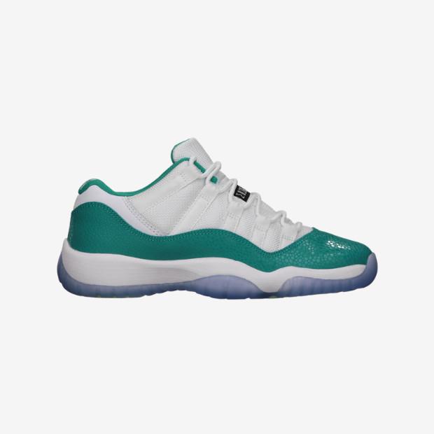 90c6f57cb161 Nike Air Jordan 11 Low GS - Aqua  580521-143 - The Sole Closet