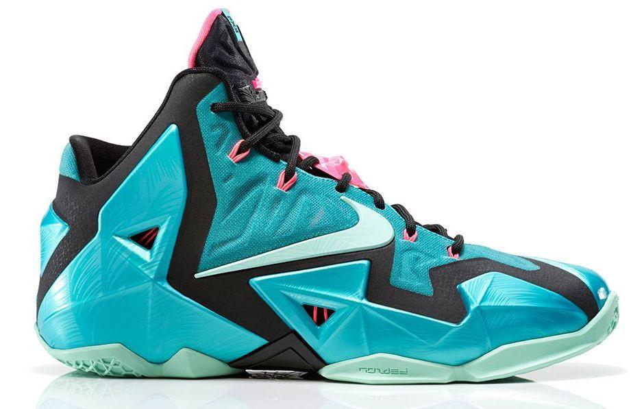 04648d34e5cb Nike Lebron XI - South Beach  616175-330. Image 1. Loading zoom