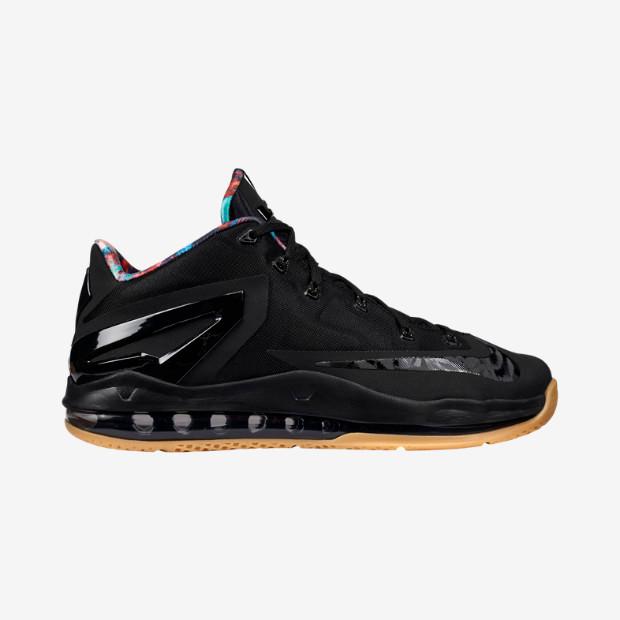 2bff0137515 Nike Lebron XI Low - Black Gum  642849-078. Image 1. Loading zoom