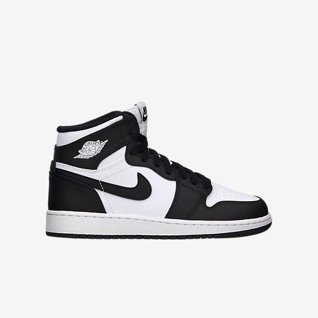e98fa747e2b401 Nike Air Jordan 1 OG High GS - Black White  575441-010 - The Sole Closet