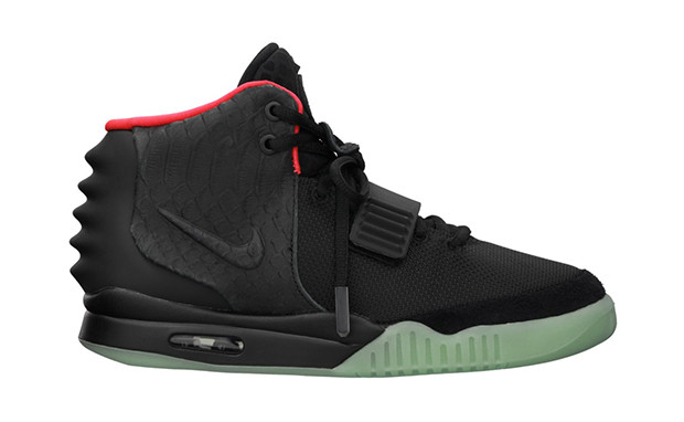 the best attitude abce4 b6c7e Nike Air Yeezy 2 NRG - Black-Solar Red  508214-006. Image 1. Loading zoom
