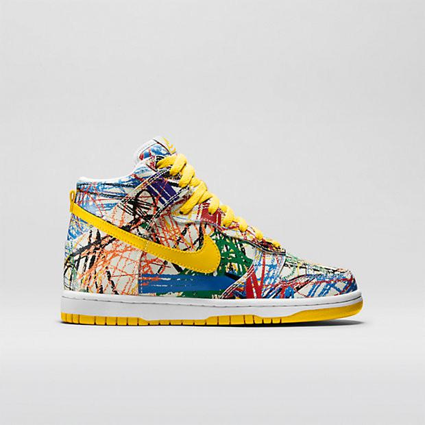 3394edd5f49 Nike Dunk High Premium GS - Scribble #728443-100