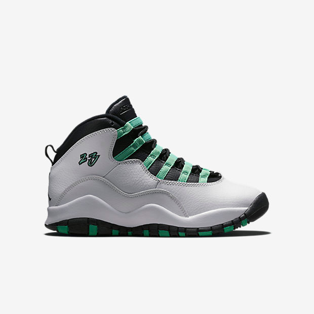 e312292fff5043 Nike Air Jordan 10 Remastered GS - Bleached Turquoise  705180-118. Image 1.  Loading zoom