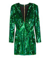 Balmain For H&M Sequin Embroidered Dress - Green #24-3630