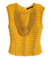 Balmain For H&M Top With Braided Embroidery - Yellow #24-3934
