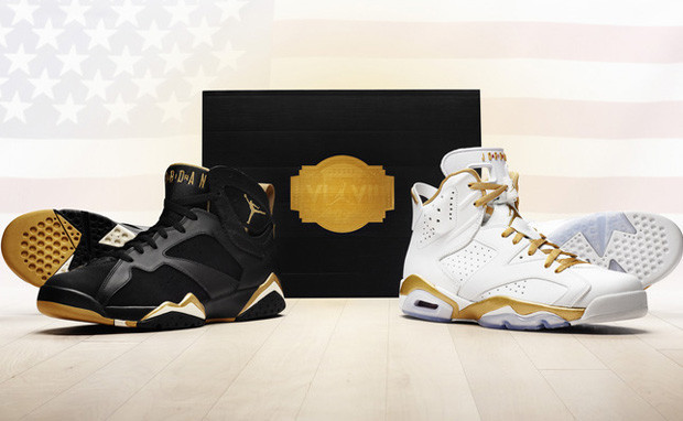 check out a5af7 37b03 Nike Air Jordan 6   7 - Gold Medal Pack  535357-935 - The Sole Closet