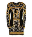 Balmain For H&M Beaded Velvet Dress - Black #24-3553