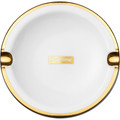 Supreme Gold Trim Ceramic Ashtray - White