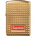 Supreme Diamond Cut Zippo - Gold