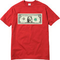 Supreme Dollar Tee - Red