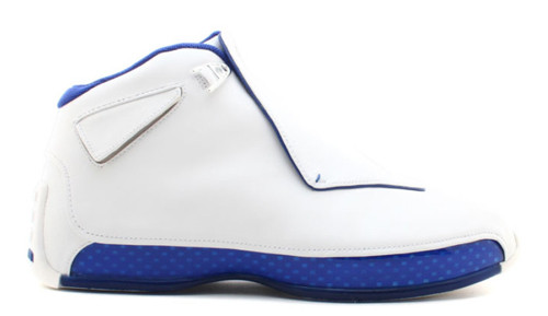 74f36e01670167 Nike Air Jordan 18 - White Sport Royal  AA2494-106 - The Sole Closet
