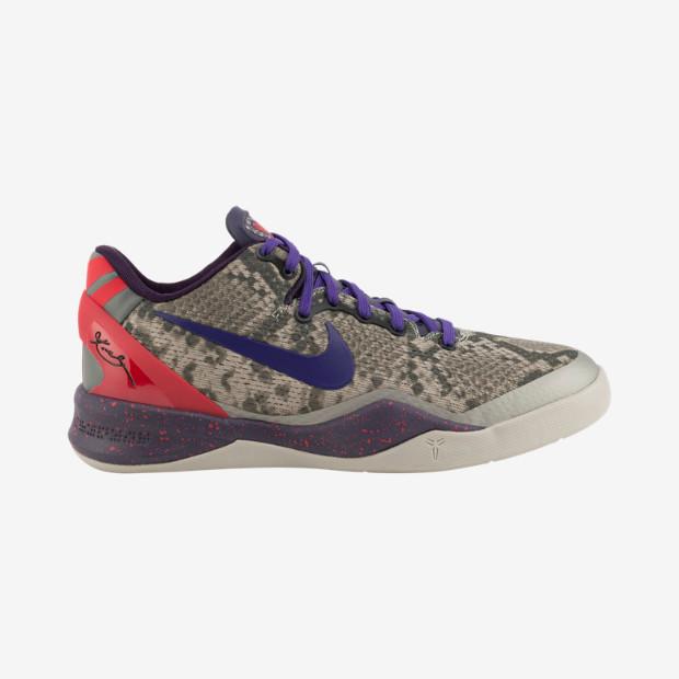 uk availability dc6e4 3a9fd Nike Kobe VIII GS - Mine Grey  555586-003. Image 1. Loading zoom