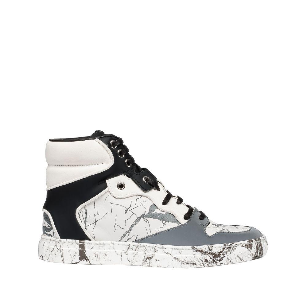 e67468e82cc7 Balenciaga Marble Hightop Sneaker - White/Black - The Sole Closet