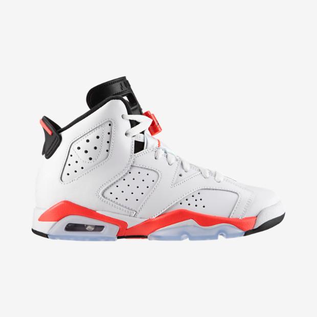 timeless design 16124 22a6b Nike Air Jordan 6 GS - Infrared  384665-123 - The Sole Closet