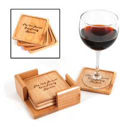 Maple Coaster Set